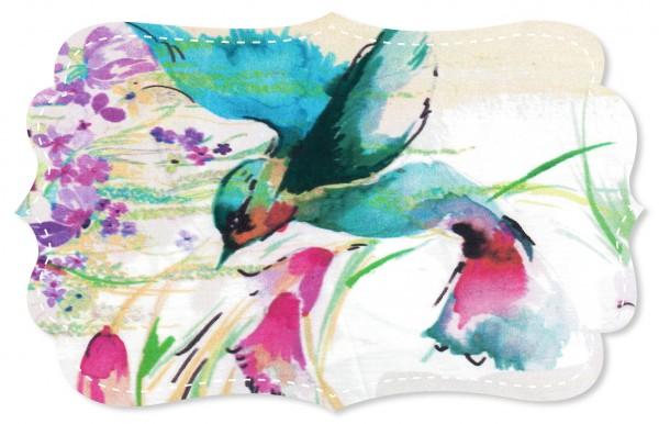 Popeline fein Stoff - Kolibri