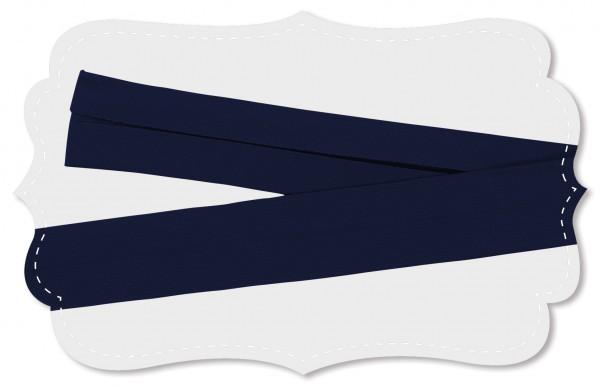 Schrägband - Bio-Baumwollstoff - uni - navy blazer