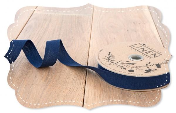 Leinen-Band 18mm blau