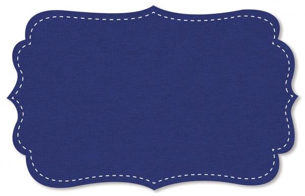 Interlock Stoff - uni - blue print
