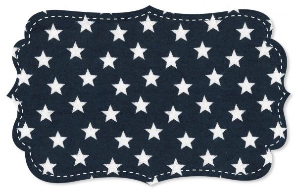 Interlock Stoff - Sterne navy blazer/weiß