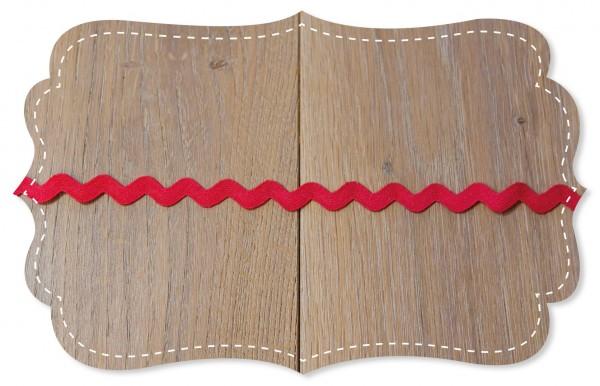 Zackenlitze 15mm rococco red
