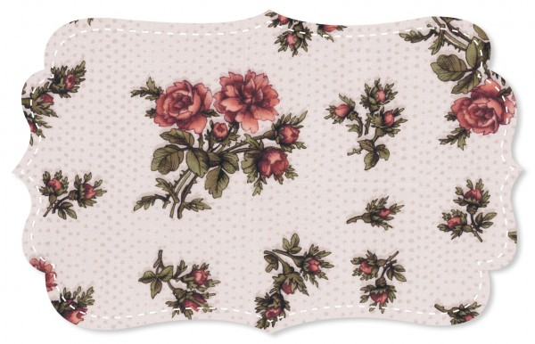 Voile Stoff - Victorian Rose