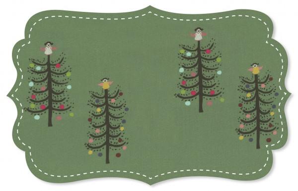 Popeline fein Stoff - Weihnachtsbaumglück