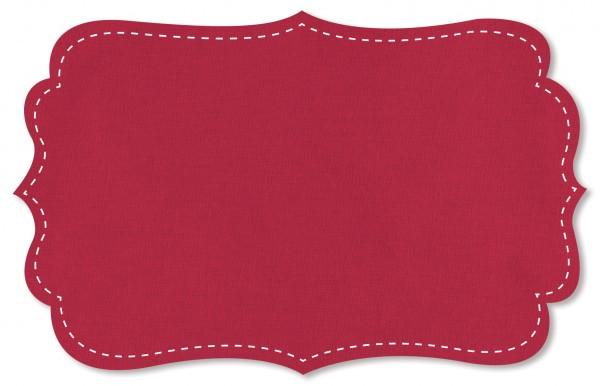 Popeline fein Stoff - uni - tango red