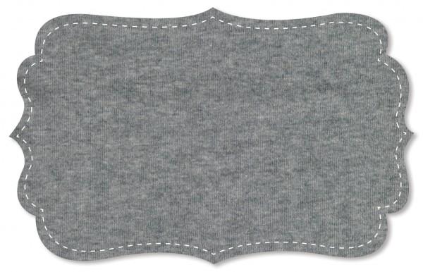 Ribware 30/1 Stoff - uni - grey melange