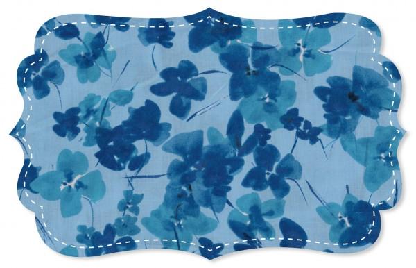 Voile Stoff - Blue Viola