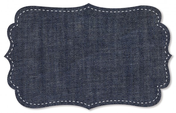Denim Stoff - uni - jeans blau
