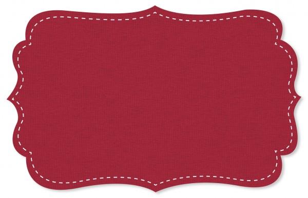Interlock Stoff - uni - tango red
