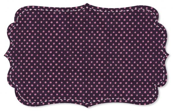 Single Jersey Stoff - Punkte pink