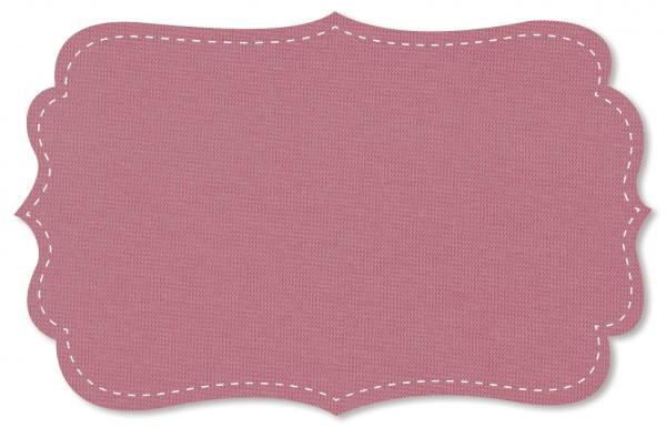 Bündchenware Rib 1x1 Stoff - uni - mesa rose