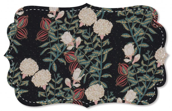 Cotton Lawn Stoff - Snowball flowers