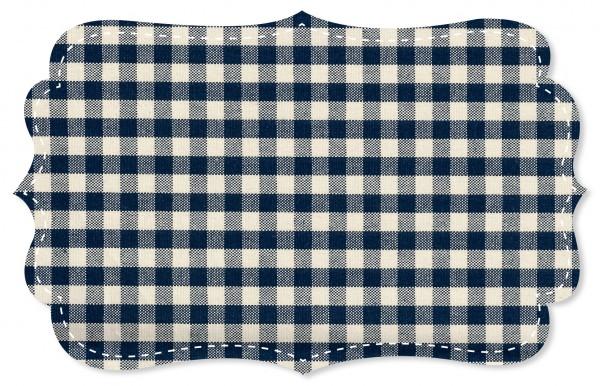 Canvas Stoff - Webkaro - navy blazer