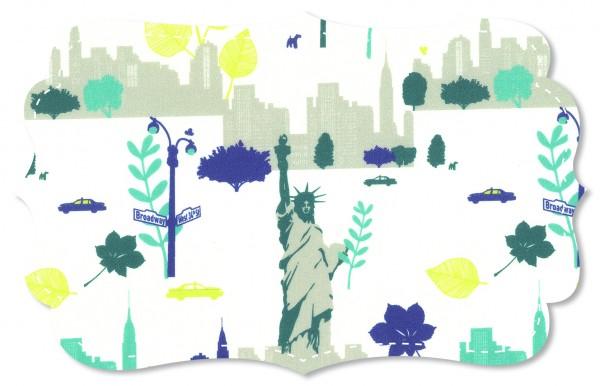 Popeline fein Stoff - New York klein