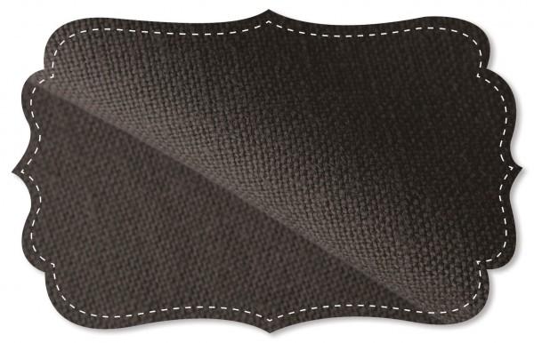 Leinen - 138 cm - uni - cafe noir