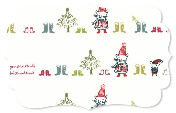 Popeline fein Stoff - Gemütliche Weihnachtszeit