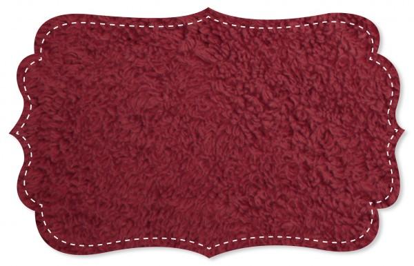 Plüsch Stoff - uni - red dhalia
