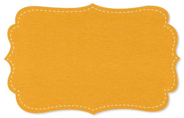 Bündchenware Rib 1x1 Stoff - uni - amber yellow