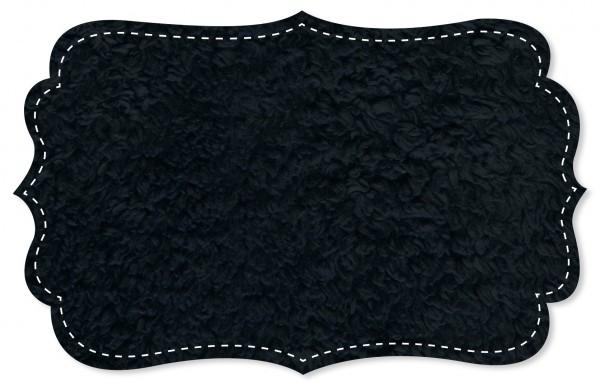 Plüsch Stoff - uni - navy blazer