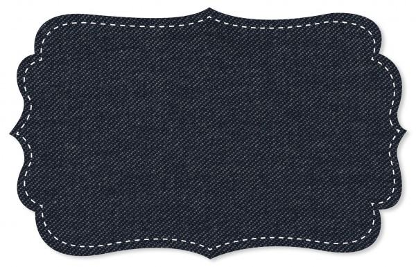 Jersey Jeansoptik Stoff - uni - Denim