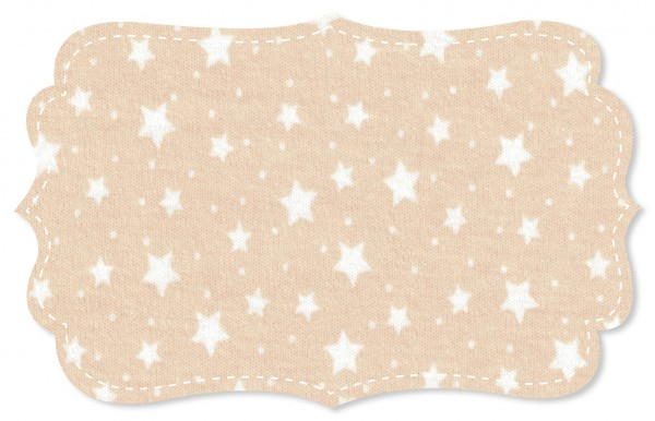 Interlock Stoff - starry sky ivory cream