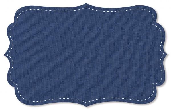 Bündchenware Rib 1x1 Stoff - uni - strong blue