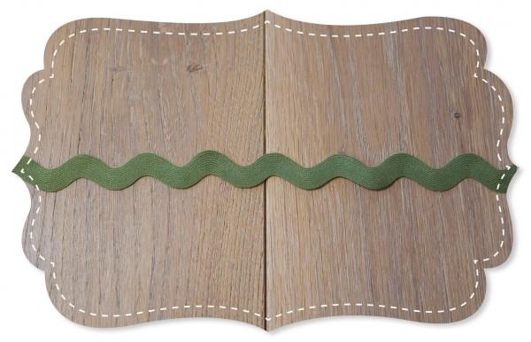 Zackenlitze 20mm olive branch