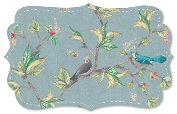 Voile Stoff - Parrot Tree