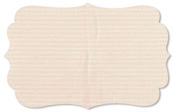 Interlock Stoff - Ringel - peach blush/natur