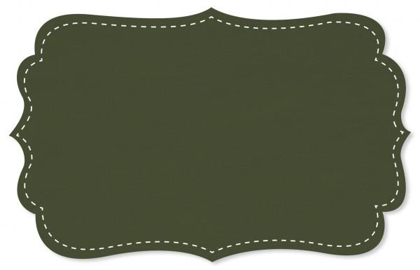 Gabardine Stoff - uni - ivy green