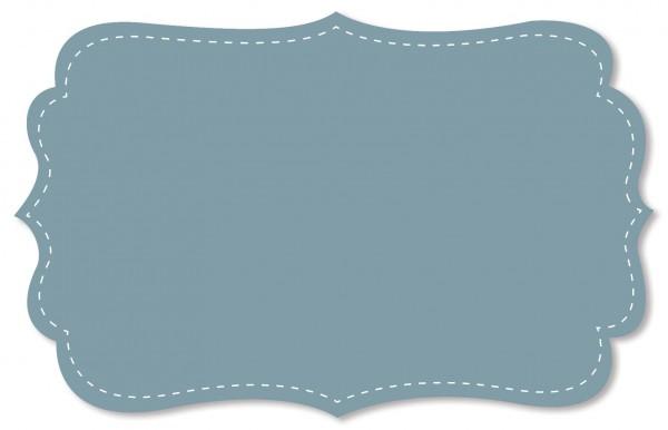 Voile Stoff - uni - stone blue