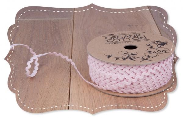 Bio-Baumwoll Zackenlitze 3mm rosa