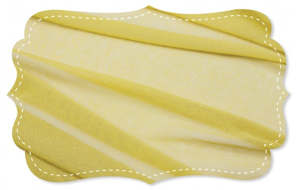 Soft Tüll Stoff - uni - yellow cream