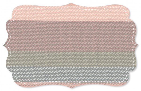 Popeline fein Stoff - Punkte Ringelreihe rosa
