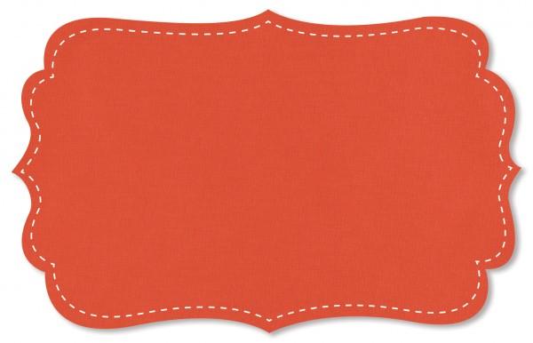 Popeline fein Stoff - uni - mandarin red