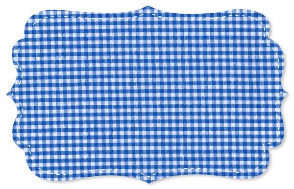 Popeline fein Stoff - kleines Webkaro - nautical blue/weiß