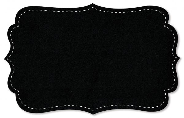Baumwoll-Fleece - uni - black