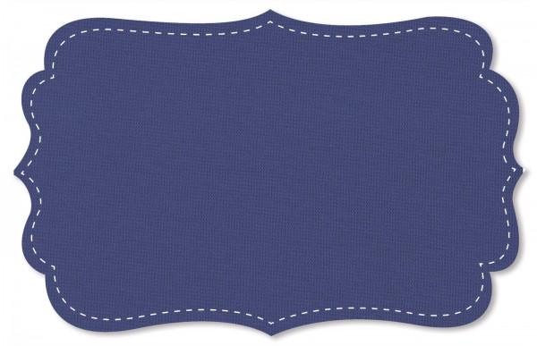 Bündchenware Rib 1x1 Stoff - uni - skipper blue