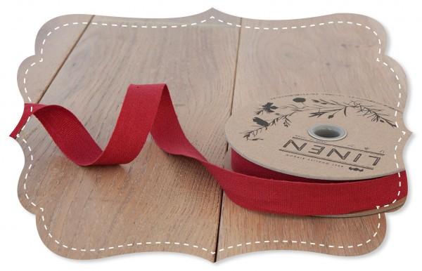 Leinen-Band 18mm rot