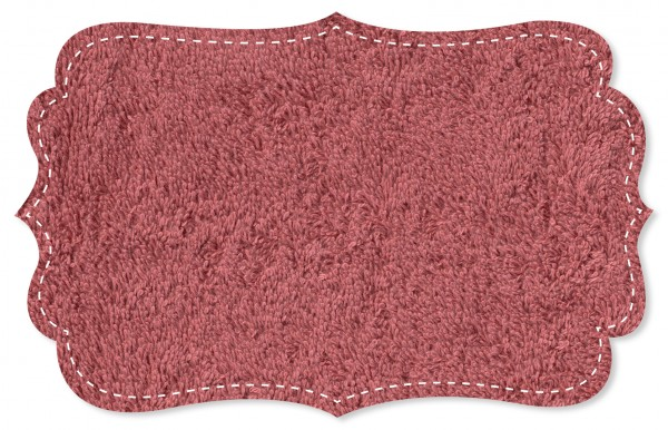Webfrottee Stoff - uni - deco rose
