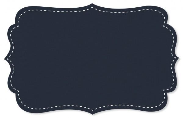 Interlock Stoff - uni - navy blazer