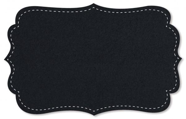 Baumwoll-Fleece - uni - navy blazer