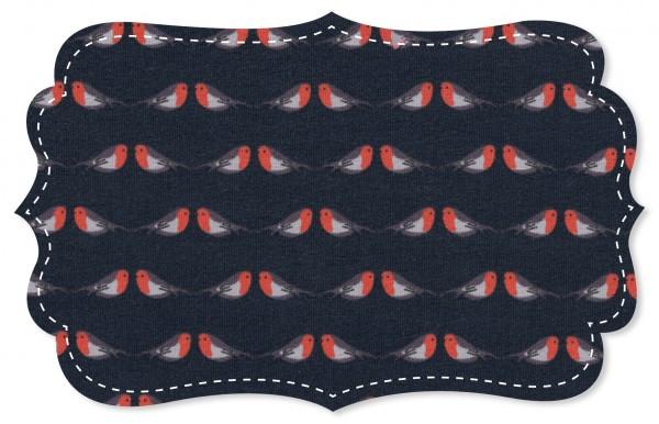 Single Jersey Stoff - robin rot