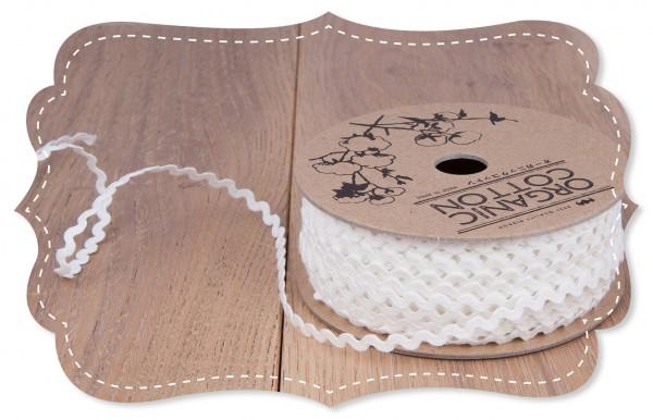 Bio-Baumwoll Zackenlitze 3mm weiß