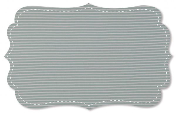 Interlock Stoff - Ringel - cloud blue/weiß