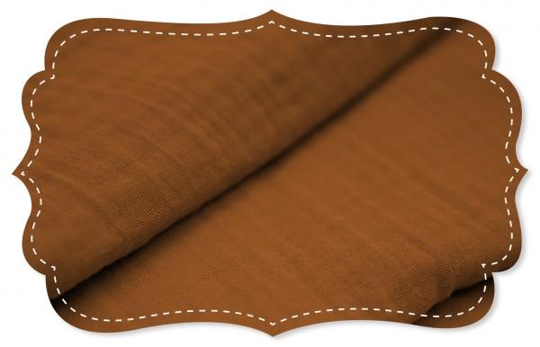 Musselin - uni - caramel café