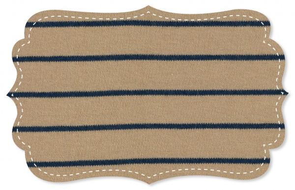 Interlock Stoff - Ringel - tan/navy blazer