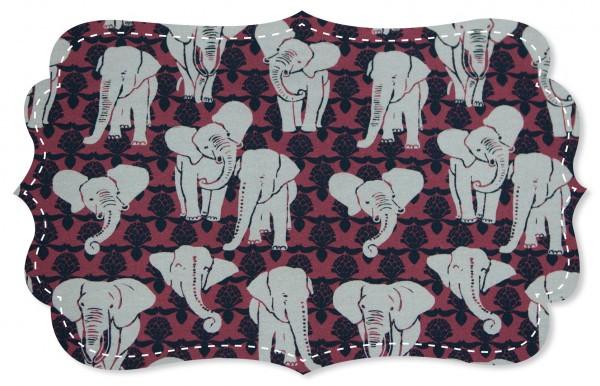 Single Jersey Stoff - Elephants