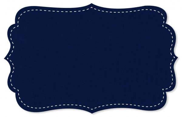 Bündchenware Rib 1x1 Stoff - uni - blue print