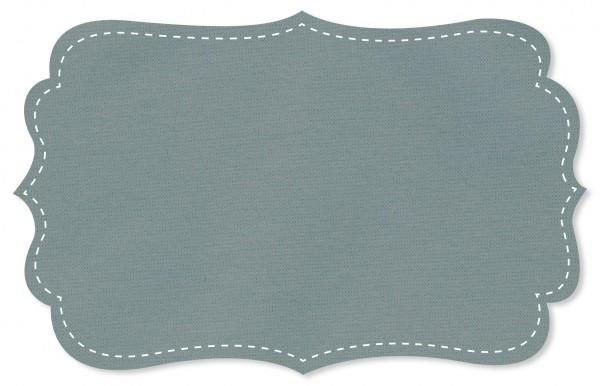 Interlock Stoff - uni - slate